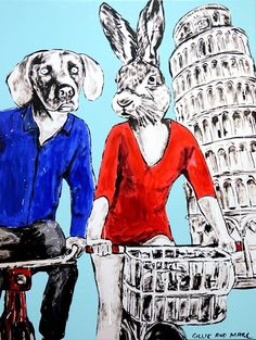 GILLIE AND MARC  When In Doubt  Original Mixed Media on Canvas 120cm x 90cm