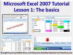 Lesson 1 Excel Tutorial – Learning how to use Microsoft Excel 2007