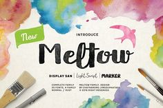 Meltow Font by Typesketchbook Foundry on @creativemarket