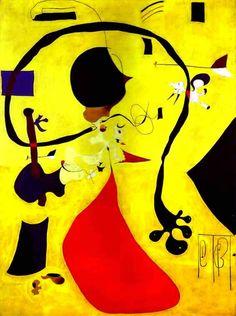 Joan Miro Surrealism Paintings | Joan Miro 1928 Dutch Interior