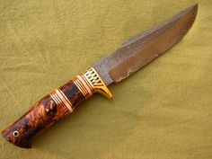 custom knives | Custom Handmade Damascus Collectable Knife - True Knife