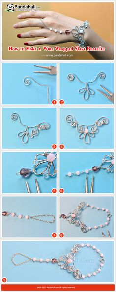 How to Make a Wire Wrapped Slave Bracelet The main materials of the bracelet are glass beads and aluminum wires. The making way is to wrap the wire into a flower shape and connect it with the beaded chain. Do you want to get a goddess-style slave bracelet? Then don't miss it! Select All Add Add to Wish List