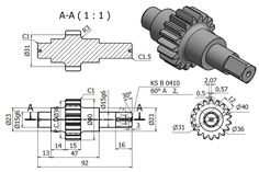 Mechanical Engineering Design, Mechanical Design, Gear Drawing, Solidworks Tutorial, Isometric Drawing, Autodesk Inventor, 3d Drawings, Technical Drawing, Autocad