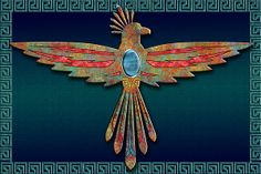 Southwest Digital Art - Bird Of Thunder by Tim Hightower Southwest Art, Southwest Style, Cow Skull Art, Quilling, Navajo Art, Native American Decor, Aztec Culture, Indigenous Art, Bird Pictures