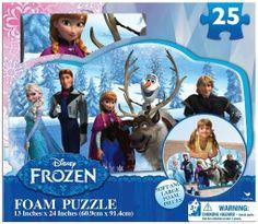 Disney Frozen Foam Puzzle (25-Piece)- Soft and Large Foam Pieces, $7.99 (http://www.znvora.com/disney-frozen-foam-puzzle-25-piece-soft-and-large-foam-pieces/)