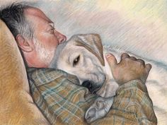 """Emily Christoff's Daily Paints: """"Al and Maggie"""" 12 x 16"""" Pastel, NFS"""