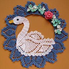 PDF Crochet Pattern- More Vintage Floral Doilies- Five Different Designs Crochet Doily Patterns, Thread Crochet, Crochet Motif, Crochet Doilies, Crochet Flowers, Crochet Lace, Crochet Stitches, Crochet Coaster, Vintage Floral