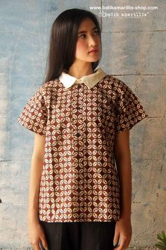 Batik Amarillis's Fraiche 2014 part 2 Batik Amarillis's Boyfriend Shirt ..oversize ,cool and comfy Shirt features a preppy contrast collar and unique short and wide sleeves - creating an effortlessly stylish look! started available at Batik Amarillis webstore http://batikamarillis-shop.com/