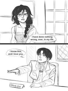 Art by: Drinkyourfuckingmilk (Tumblr) Levi and his daughter leelu... I love them...