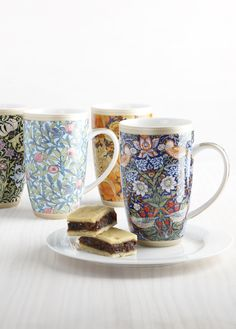Rich colours and fine detail distinguish the William Morris collection of mugs, Maxwell & Williams' homage to one of English art's historic masters. William Morris, Masters, Cottage, English, Colours, Tea, Mugs, Detail, Coffee