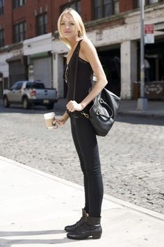 I will never get over the simple black look.