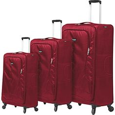 Mia Toro Apennine Softside Luggage Set Red *** Check this awesome product by going to the link at the image.