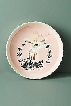 Hiver Pie Dish, deer, drawing, ink, colour, autumn, illustration, design