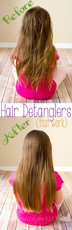 Hair Detanglers that work. The best hair detangler! Plus EWG ratings to go along with the recommendations