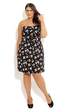 City Chic - DAISY DREAM DRESS - Women's plus size fashion