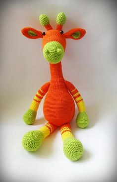 Crochet Giraffe, Crochet Toy, Crochet Am - Diy Crafts - hadido Crochet Pig, Giraffe Crochet, Crochet Bunny Pattern, Crochet Animal Patterns, Crochet Patterns Amigurumi, Crochet For Kids, Amigurumi Doll, Crochet Animals, Giraffe Toy