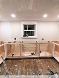 How I Built My Lower Base Cabinets And Drawers In The Pantry - Addicted 2 Decorating® - DIY-kitchen-cabinet-ideas Building Kitchen Cabinets, Kitchen Base Cabinets, Built In Cabinets, Diy Cabinets, How To Make Kitchen Cabinets, Pantry Cabinets, Kitchen Counters, Kitchen Islands, Kitchen Flooring
