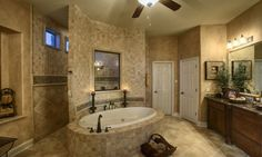 floating garden tub with walk through shower! YES, please!