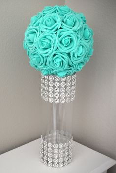RHINESTONE VASE. Wedding Centerpiece Vase. Bling by KimeeKouture