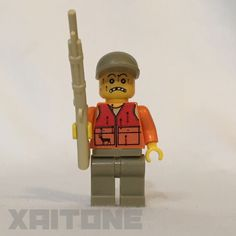 Unfortunate Hunter Custom Lego Minifigure by Xaitone.  This Minifig is on Etsy!