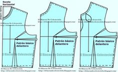 El Rincon De Celestecielo: Trazo y corte de blusa o vestido escote lágrima y ...
