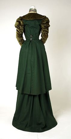 Walking suit Date: 1897–98 Culture: probably American Medium: silk, wool