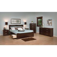 Everett Espresso King Size Platform Storage Bed | Overstock.com
