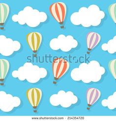 Retro Seamless Pattern with Air Balloons Vector Illustration EPS10