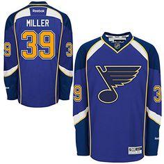 NHL St Louis Blues 39 Ryan Miller Mens Premier Jersey Royal Blue color Size  L   5d0e00539