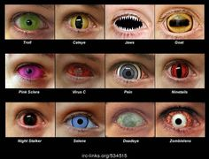 for @Sherrilyn Kenyon - whichever actor ends up playing Ash should wear the bottom pair of contacts!   Miscellaneous   Pinterest