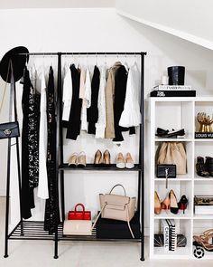 """1,718 """"Μου αρέσει!"""", 30 σχόλια - Amy Jackson // Fashion Jackson (@fashion_jackson) στο Instagram: """"Showing you how to style this gorgeous clothing rack from @potterybarn. It's the perfect small…"""""""