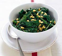 Spinach With Pine Nuts & Garlic Recipe on Yummly. @yummly #recipe