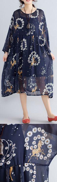 2018-blue-prints-pure-chiffon-dresses-plus-size-vintage-two-pieces-wild-dress5