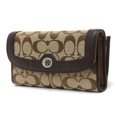 Coach Park Signature Checkbook Wallet F49145 $109.95