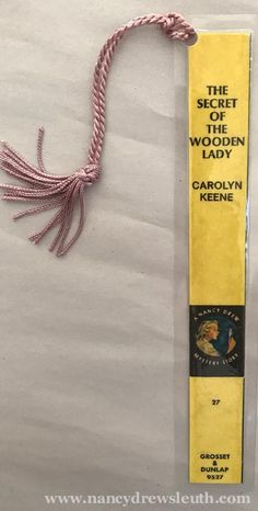 Nancy Drew Book Spine Bookmark - The Secret of the Wooden Lady