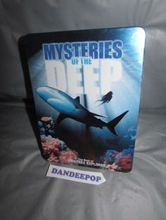 Mysteries Of  the Deep (DVD, 2005, 5-Disc Set) Tin Box Collector Set #mysteriesofthedeep #movies #dvd #5discset #dandeepop Find me at dandeepop.com