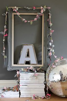 DIY: Spring Garlands Using Liberty Fabrics | decor8. Maybe could use paper instead of fabric