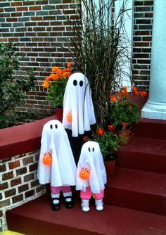 Boo Baby Family Halloween Decorations - Set of Three Babies - Halloween Decor