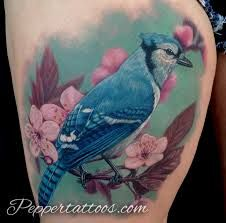 Image result for blue jay tattoo