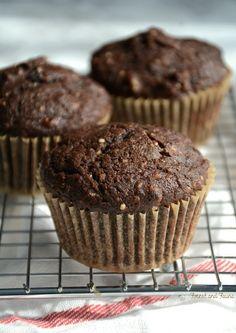 Chocolate Hemp Protein Muffins - low carb - paleo - dairy-free - muffin recipe