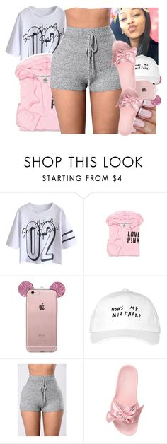 """""""."""" by eirinimaria ❤ liked on Polyvore featuring Victoria's Secret, October's Very Own and Puma"""