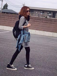 CONVERSEのスニーカー「CONVERSE ALL STAR J HI 」を使ったmayumiのコーディネートです。WEARはモデル・俳優・ショップスタッフなどの着こなしをチェックできるファッションコーディネートサイトです。