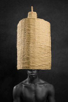 Worldmuseum - Meschac Gaba at Afrika 010. Rotterdam buildings, African headdress.