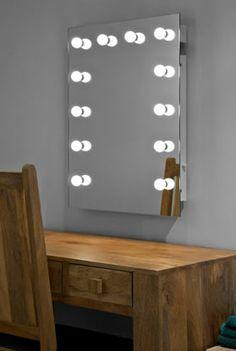 Make up Wall Mirror | Hollywood Mirrors Mirrored Bathroom Cabinets | Illuminated Mirrors