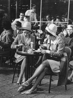Café Terrace on the Champs-Elysées Paris, 1960