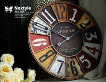 1df69bb0908 Europeu estilo Pastoral país da américa para fazer o velho retro antigo  relógio de parede de