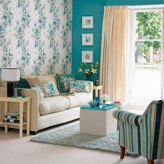 Bricolage e Decoração: Decorações para Sala de Estar inspiradas no Azul Turquesa