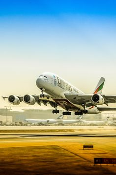 A380 takes into the sky