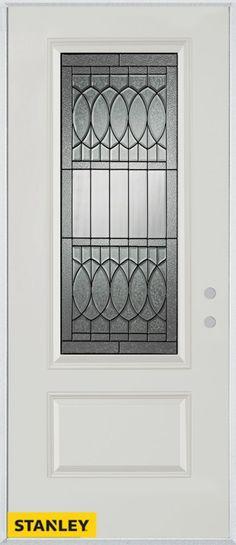 Merveilleux Nightingale Patina Lite White 34 In. X 80 In. Steel Entry Door   Left  Inswing