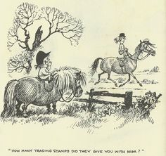 Thelwell Ponies Original 1964 Comic Print Matted Riding Academy